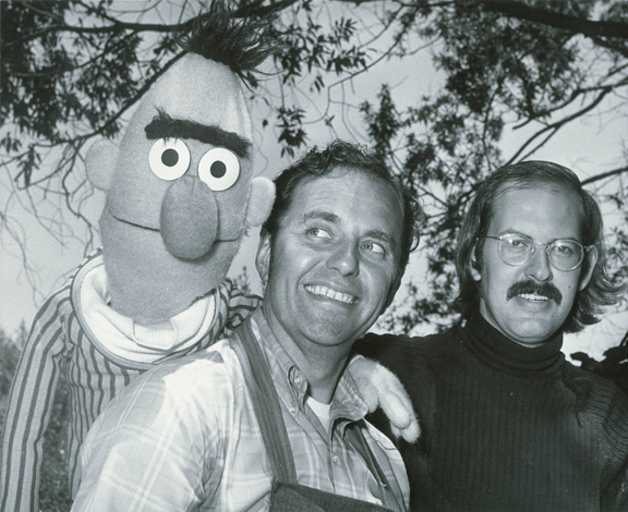 Lewis Mahlmann & Frank Oz, with Bert